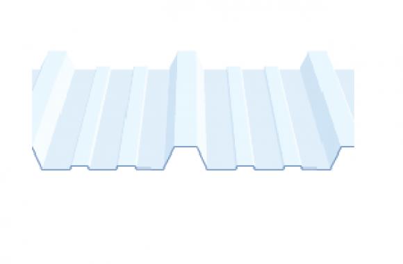 Tôle simple peau translucide en polycarbonate profilée 33.250.1000