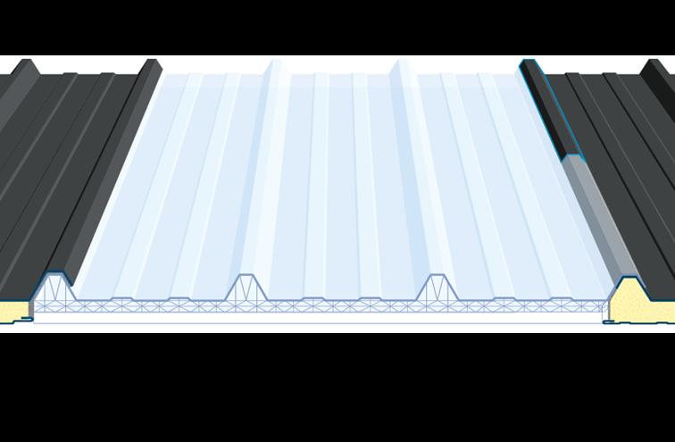 Translucide en polycarbonate double profil 45.333.1000