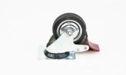 Zwenkwielen geremd (metalen/ aluminium velg)