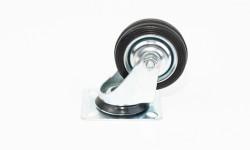 zwenkwielen niet geremd (metalen/ aluminium velg)