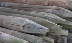 Rondhout geïmpregneerd groen